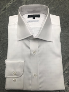 Studio Italia Spencer white single cuff shirt