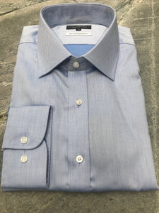 Studio Italia Spencer blue single cuff shirt