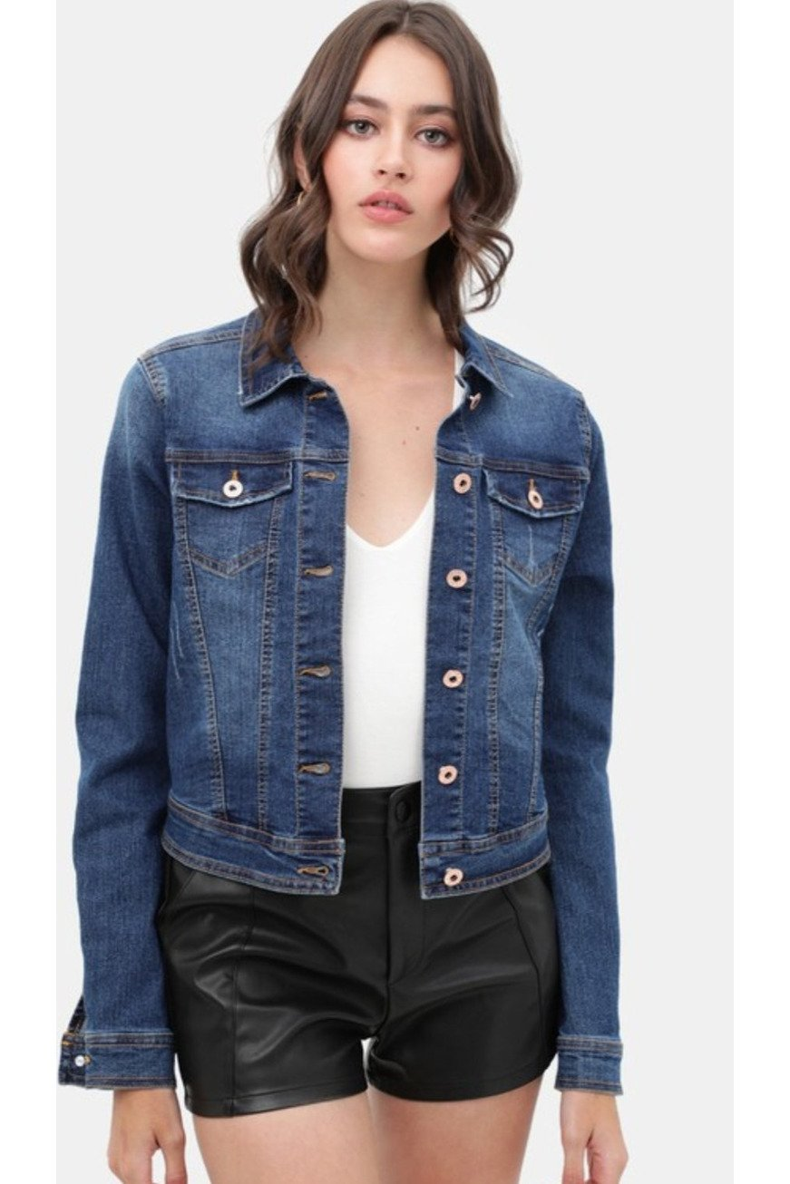Kora denim jacket in dark wash