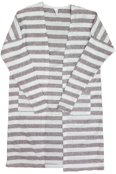 Your favorite striped cardi in mauve