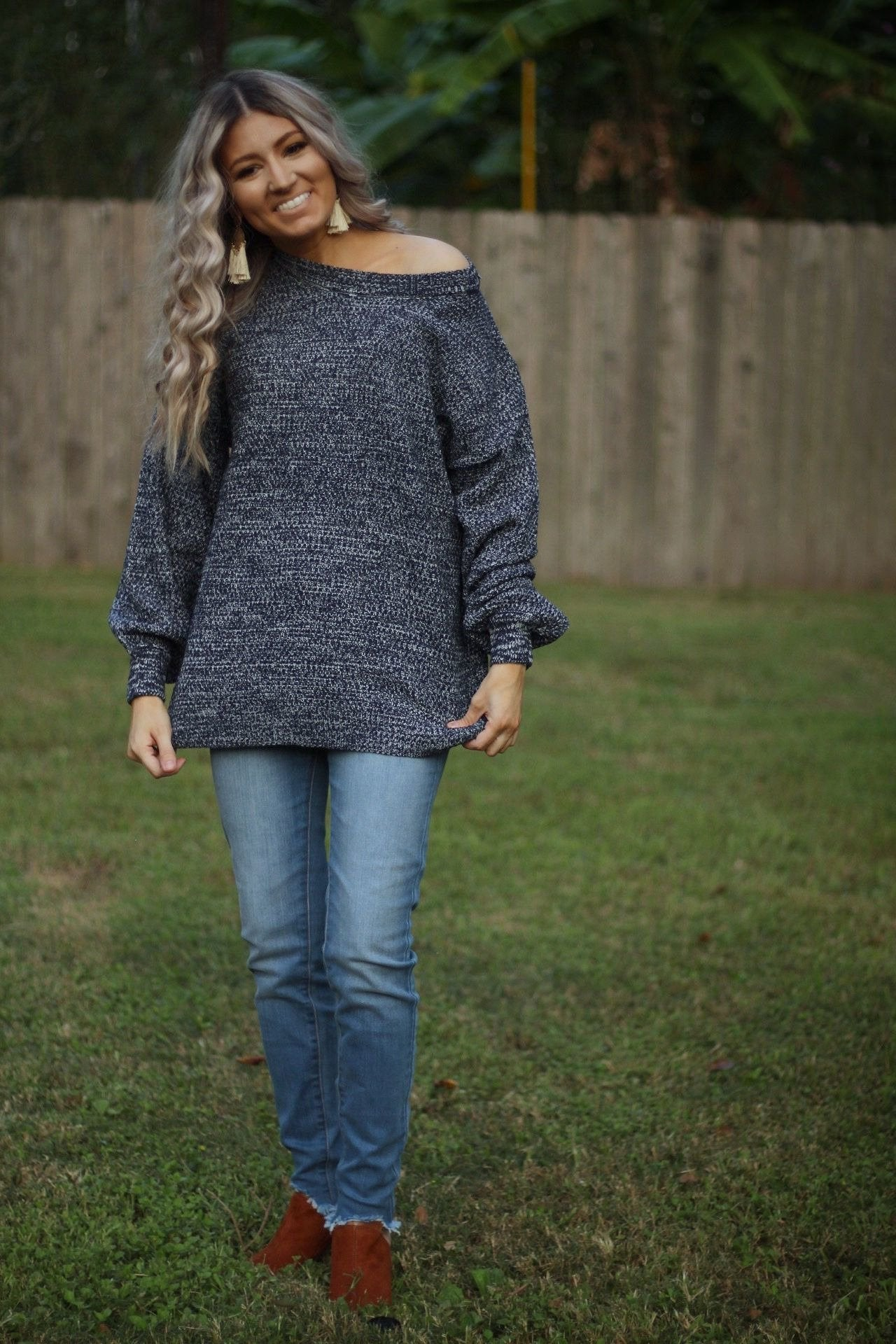 That loving feeling bubble sleeve sweater