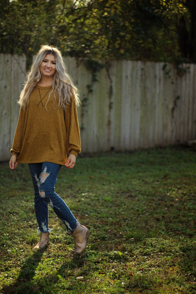 Sweet as pie top in butterscotch