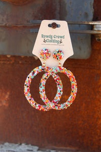 Confetti Circle Earrings