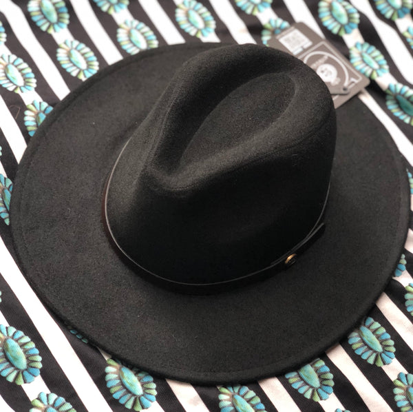BANDED WOOL FEDORA HAT