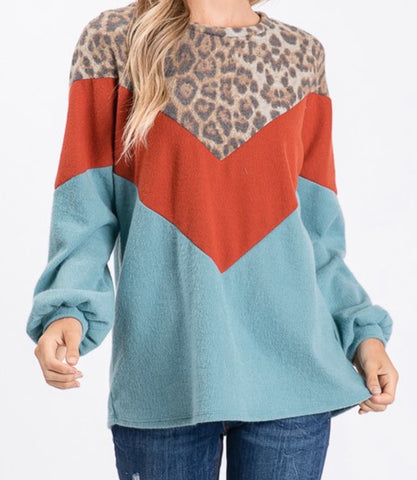 THE ANIMAL IN YOU COLOR BLOCK PULL OVER