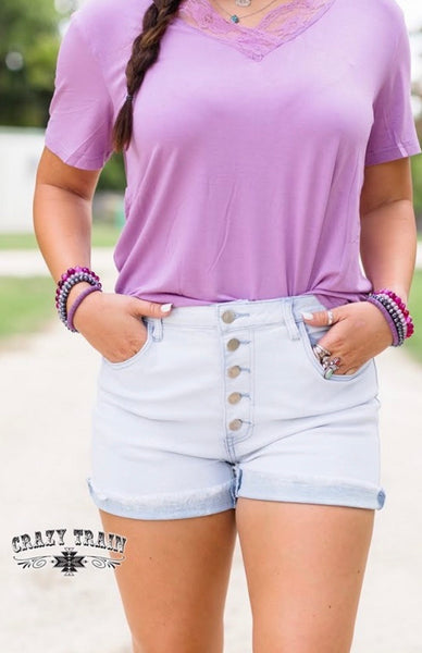 It's the Weekend Britches Light Denim Shorts