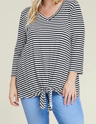TWISTED SISTERS STRIPED PLUS TOP