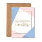 Congratulations, Tiny Human Baby Greeting Card