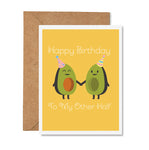 Happy Birthday Avocado Half Greeting Card