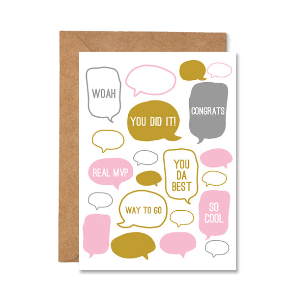 Congratulation Quote Folded Greeting Card