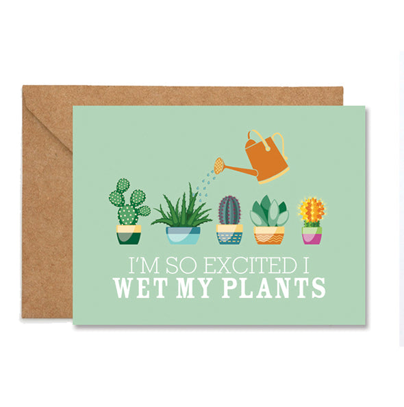 Congratulations Wet My Plants Folded Greeting Card