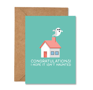Congratulations Haunted House Greeting Card