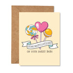 Congratulations On Your Sweet Baby Greeting Card