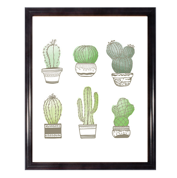 Watercolor Cacti Wall Art Poster