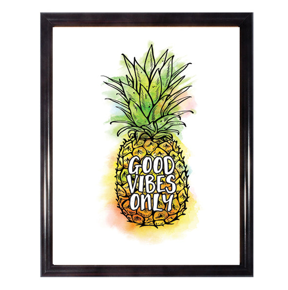 Good Vibes Only Pineapple Poster Wall Art