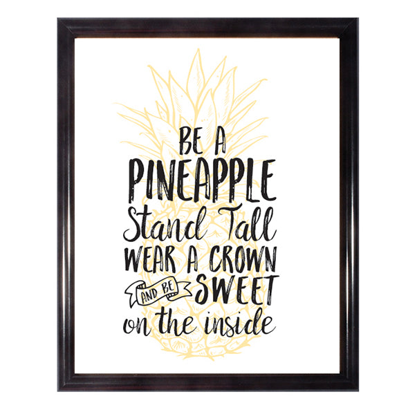 Be A Pineapple Poster Wall Art Poster