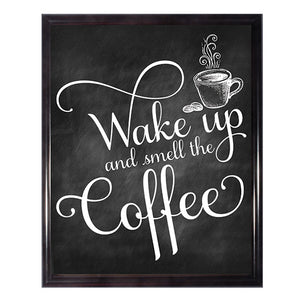 Wake Up And Smell The Coffee Kitchen Wall Art Poster