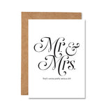 Mr and Mrs Oh Shit That's Serious Greeting Congratulations Greeting Card