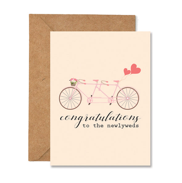 Congratulations to the Newlyweds Greeting Card