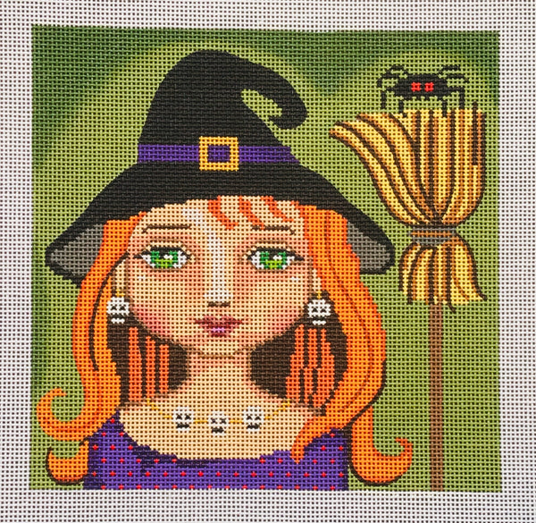 Witch, broom & Spider