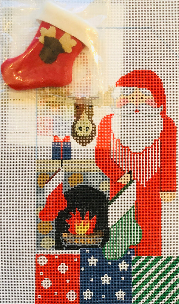 Fireside Santa with Stocking