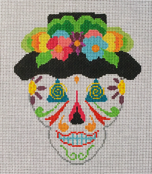 Flowered Hat Sugar Skull