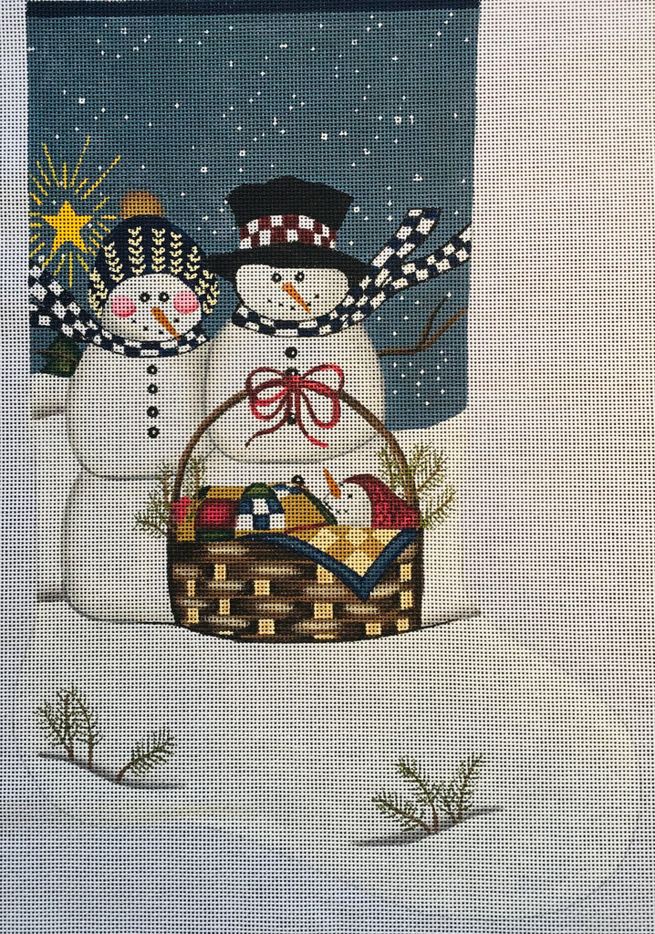 Snowman Family Stocking