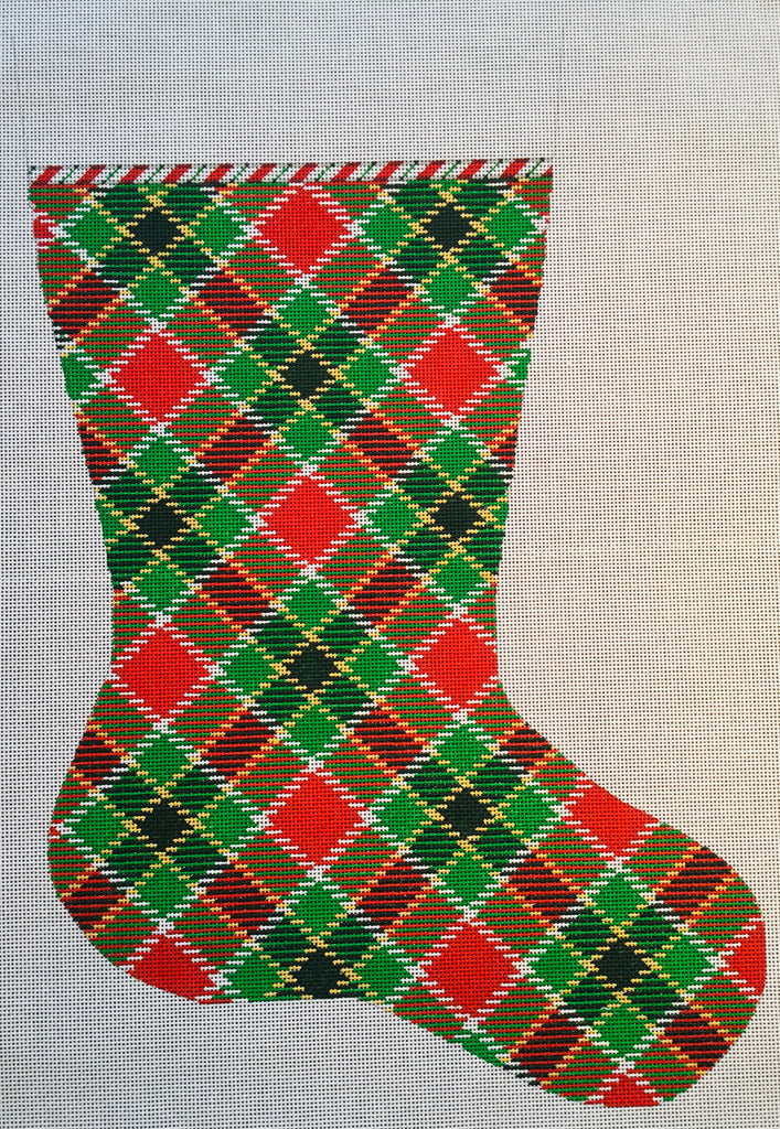 Plaid Christmas Stocking