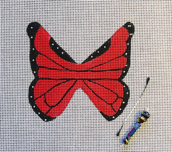 Butterfly with beaded body 1
