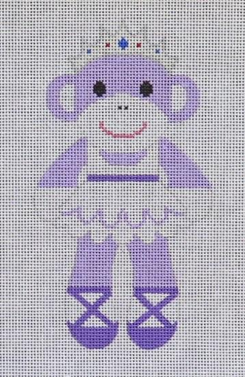 Purple Sock Monkey