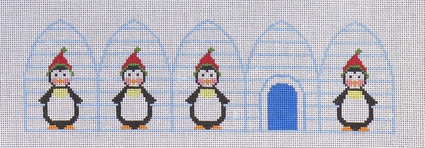 Penguin Igloo 3d ornament