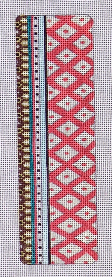 Bookmark - Red and White Diamonds
