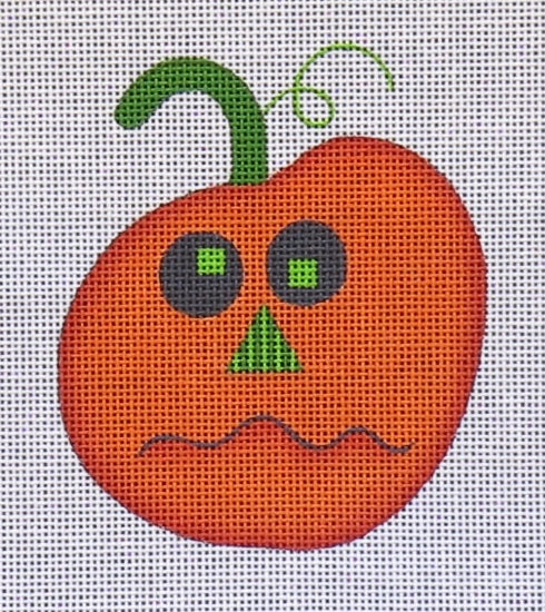 Pumpkin Face Ornament - Orange