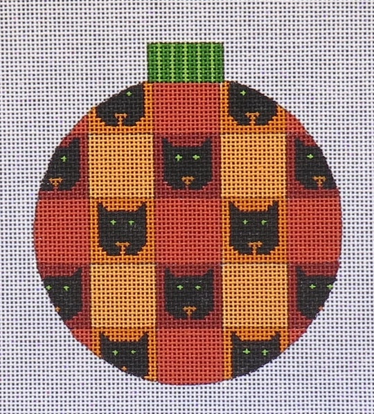 Pumpkin Ornament Cat Faces