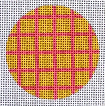 Round Yellow/Pink Check