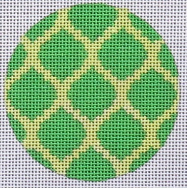 Round Green/Gold Design
