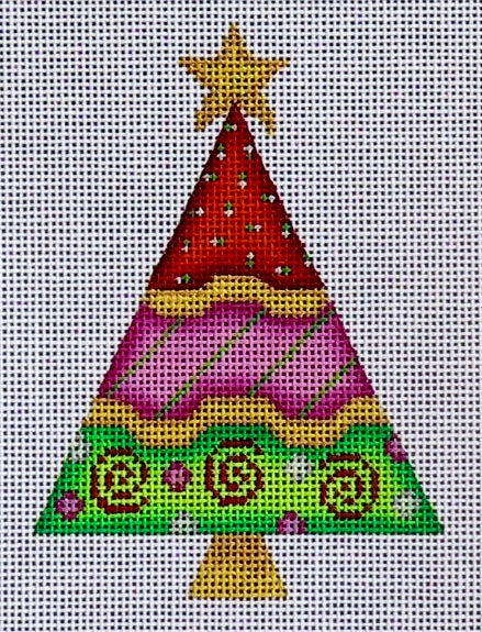 Patterned Christmas Tree 3