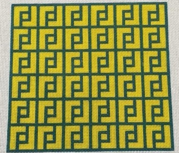 Pattern Yellow / Green Canvas