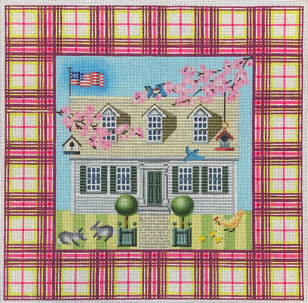 Plaid Border House