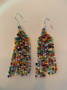 Covid-Relief Beaded Earrings Multicolor - The KindNest Collaborative