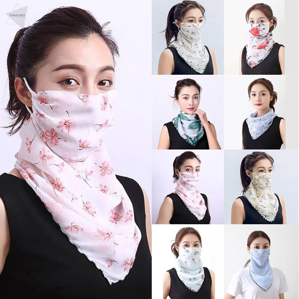 Outdoor Cycling UV Protection Chiffon Scarf Face Neck Cover Veil Shawl