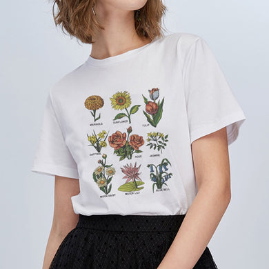Wildflower t shirt Women - The KindNest Collaborative