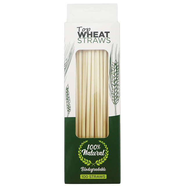 Natural Wheat Disposable Straws -300pcs - The KindNest Collaborative