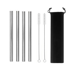 Reusable Metal Straw - Set - The KindNest Collaborative