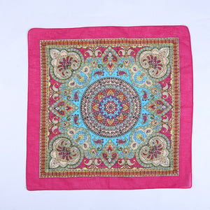 Cotton Paisley Boho Face Scarf