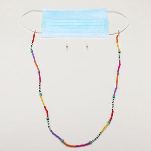 Multicolor Beaded Mask Chain