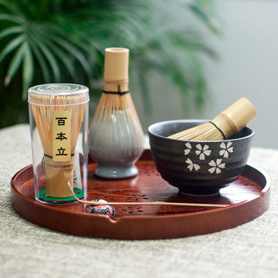 Japanese Matcha Bamboo Brush Tea Set - The KindNest Collaborative