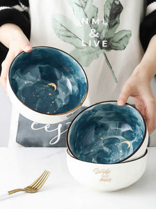 6 Inch Ceramic Bowl Starry Ramen Bowls - The KindNest Collaborative