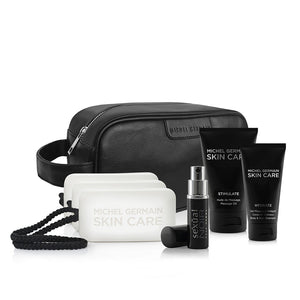 Michel Germain Mens Essential 6-Piece Dopp Kit (Value $160)