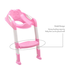 Baby Toilet Trainer Safety Seat Chair Step with Adjustable Ladder - Shoplist
